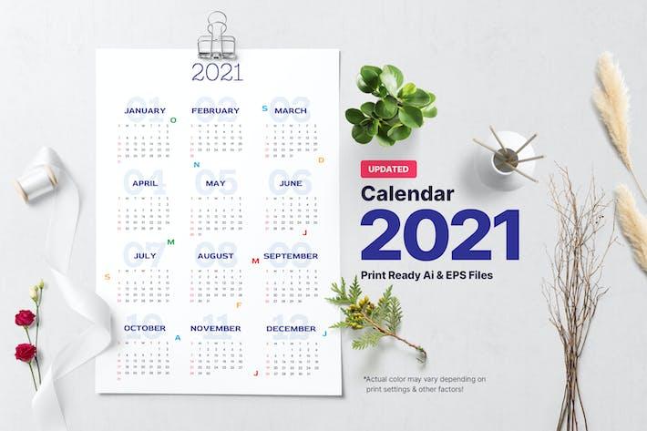 Easy Calendar 2021