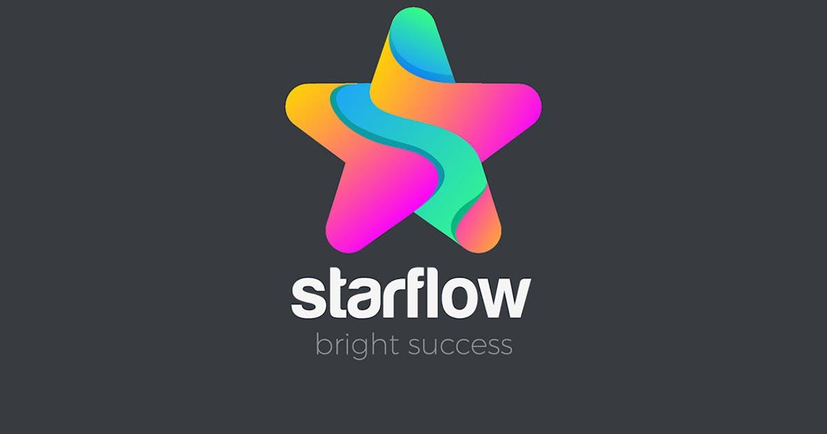 Logo Star fluid shape abstract design by Sentavio