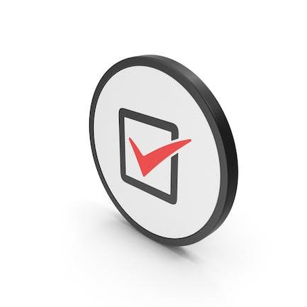 Icon Check Box Red