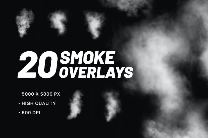 20 Smoke Overlays