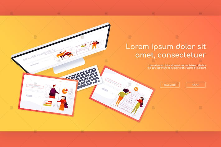 Thumbnail for Creative workplace - colorful web banner