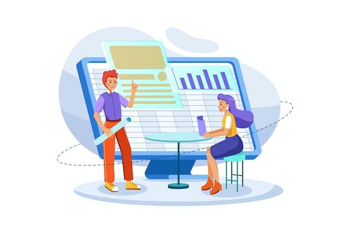 Thumbnail for Manager, der Finanzbericht-Konzept