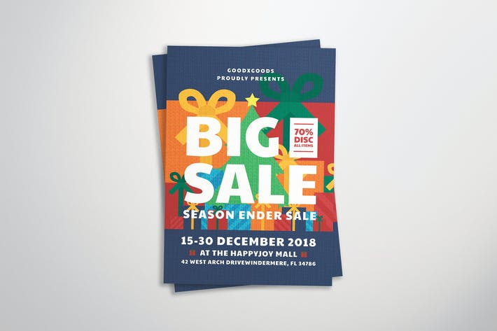Cover Image For Christmas Sale Flyer