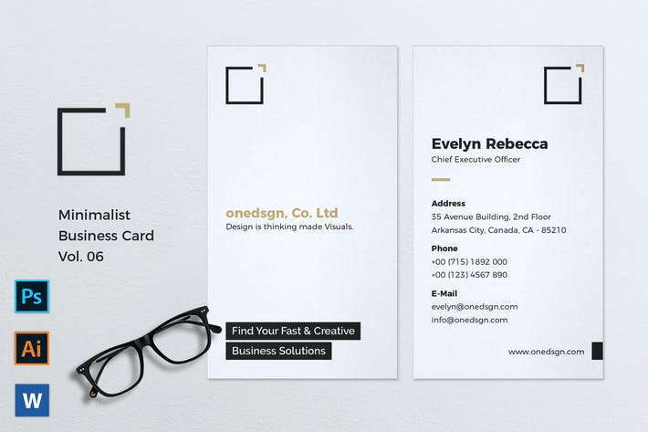 Thumbnail for Minimalist Business Card Vol. 06