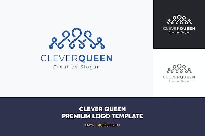Thumbnail for Clever Queen Logo Template