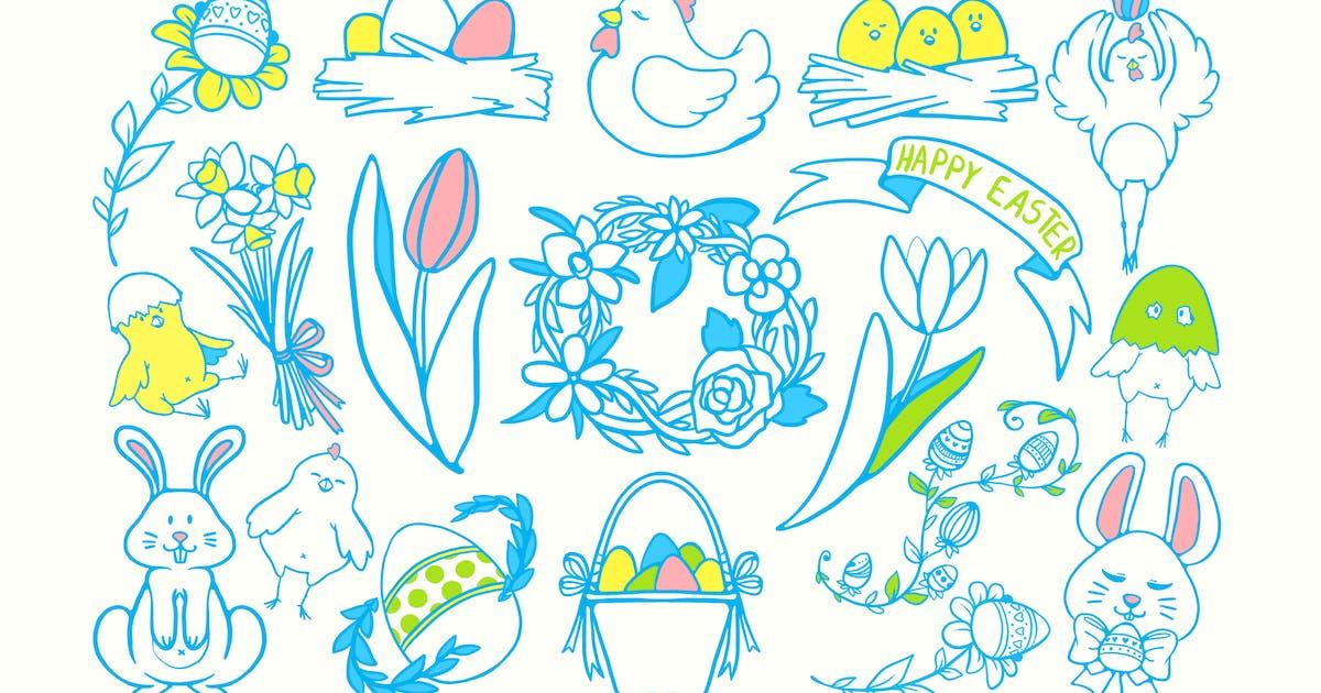 Easter Joy Doodles by Jumsoft