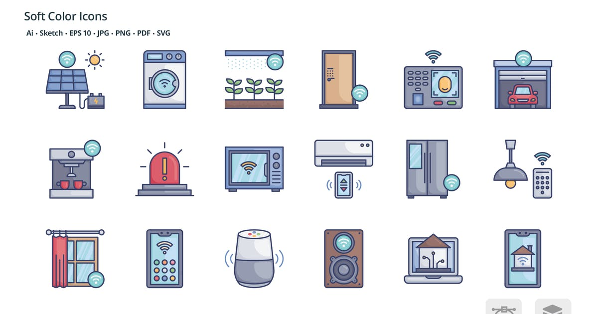 Download Smart home soft color icons by roundicons