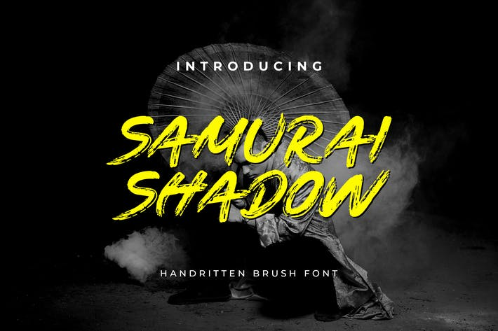 Police manuscrite Samurai Shadow Pinceau