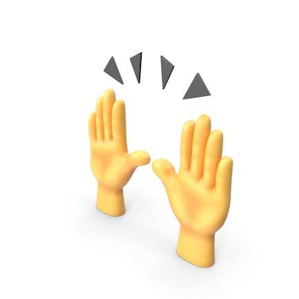 Levantando Manos Emoji