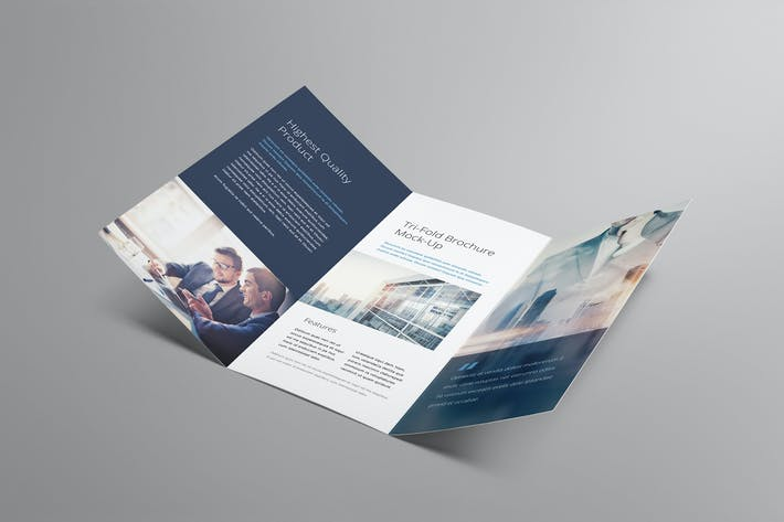 Thumbnail for Tri fold Brochure Mockup