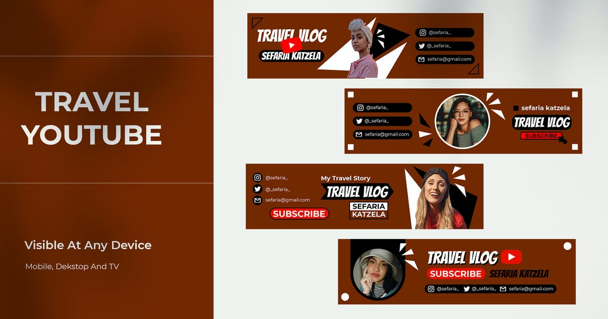 Download Youtube Channel Cover Template by invisualstudio
