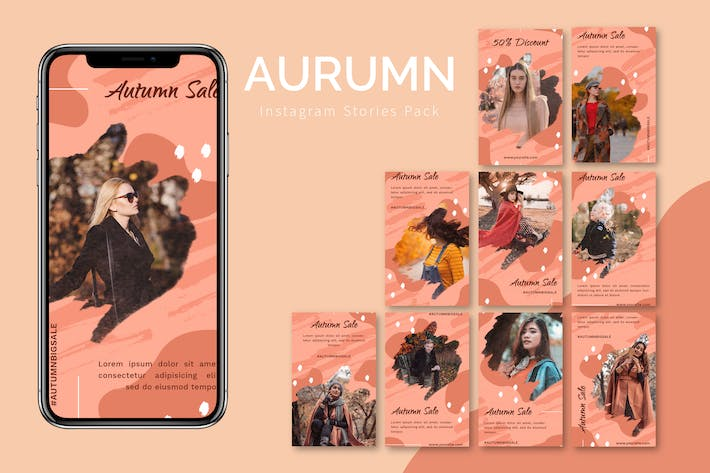 Thumbnail for Aurumn - Instagram Story Pack