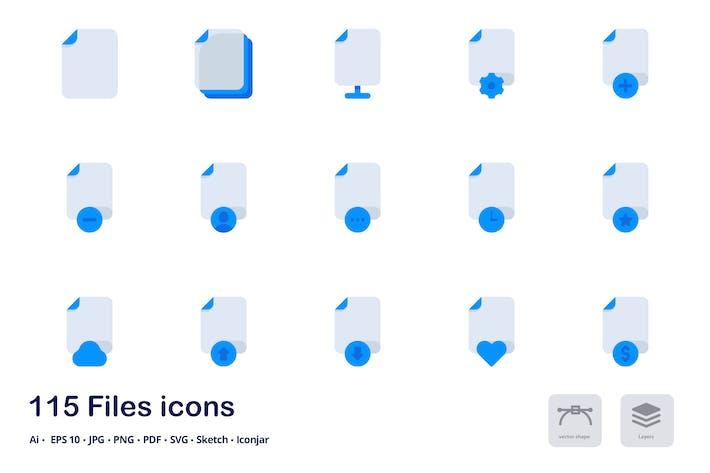 Thumbnail for Files and Formats Accent Duo Tone Icons