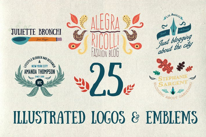 Thumbnail for 25 Illustrated logos and emblems
