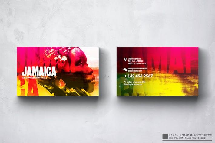 Jamaica Music Business Card Design