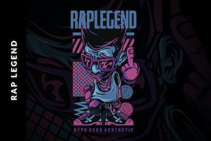 Rap Legend Illustration