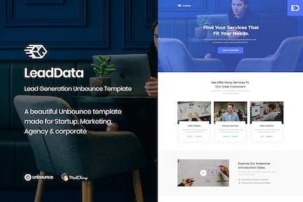 LeadData - Lead Generation Unbounce Landing Page