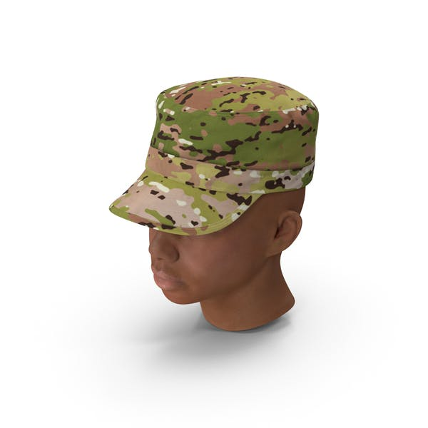African American Female Soldier Head