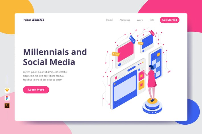 Thumbnail for Millennials and Social Media - Landing Page