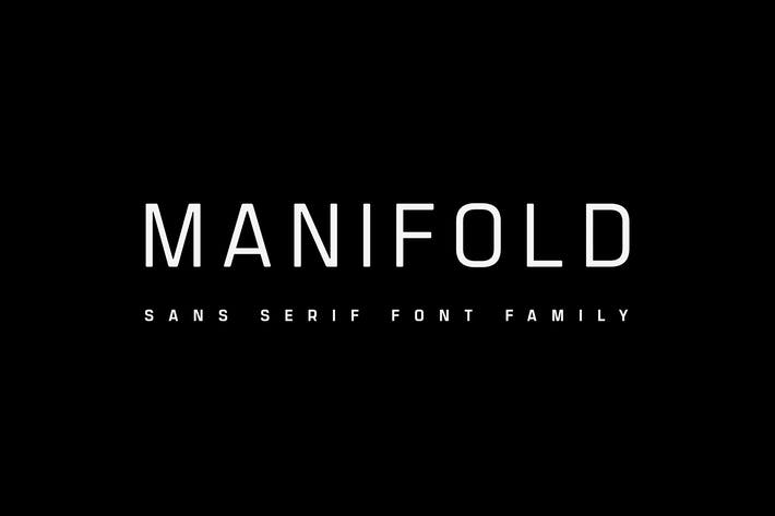Thumbnail for Manifold CF | utilitarian font family