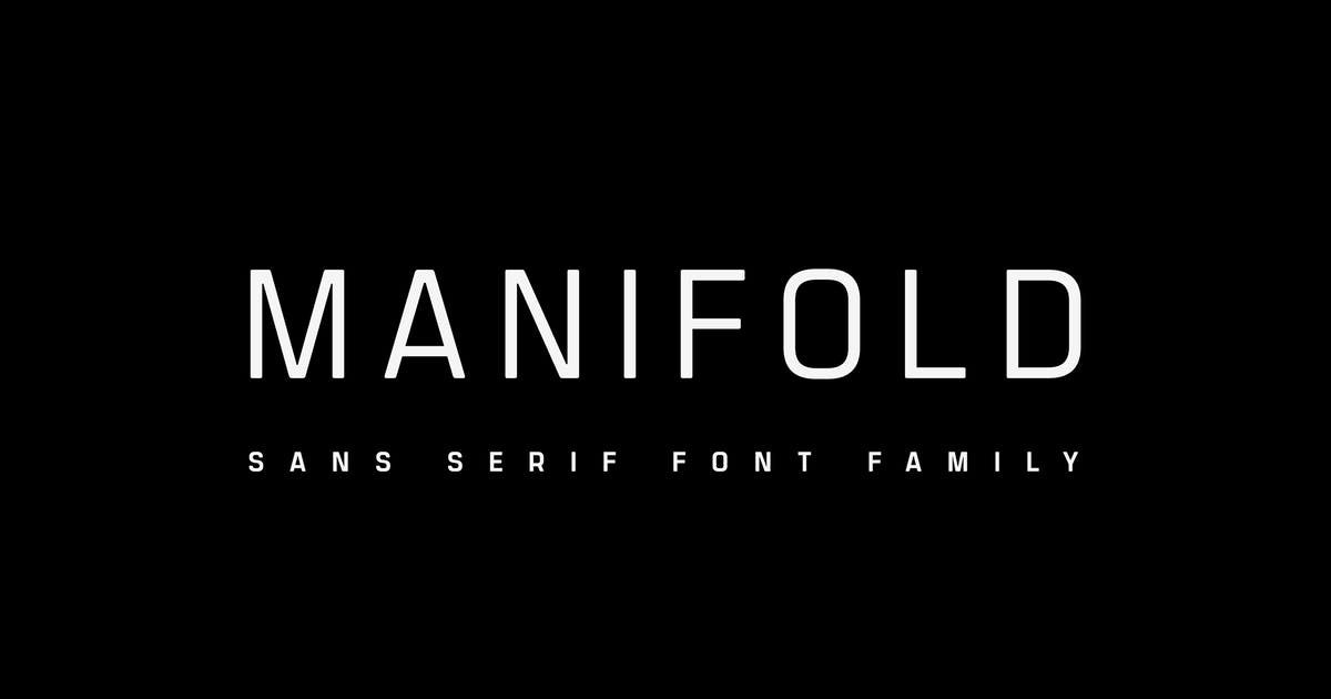 Download Manifold CF | utilitarian font family by connary