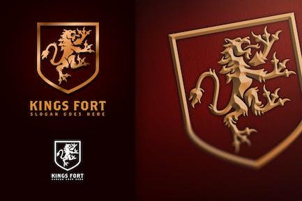 Kings Fort - Heraldic Lion Logo
