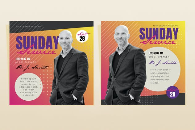 Sunday Service Template Set