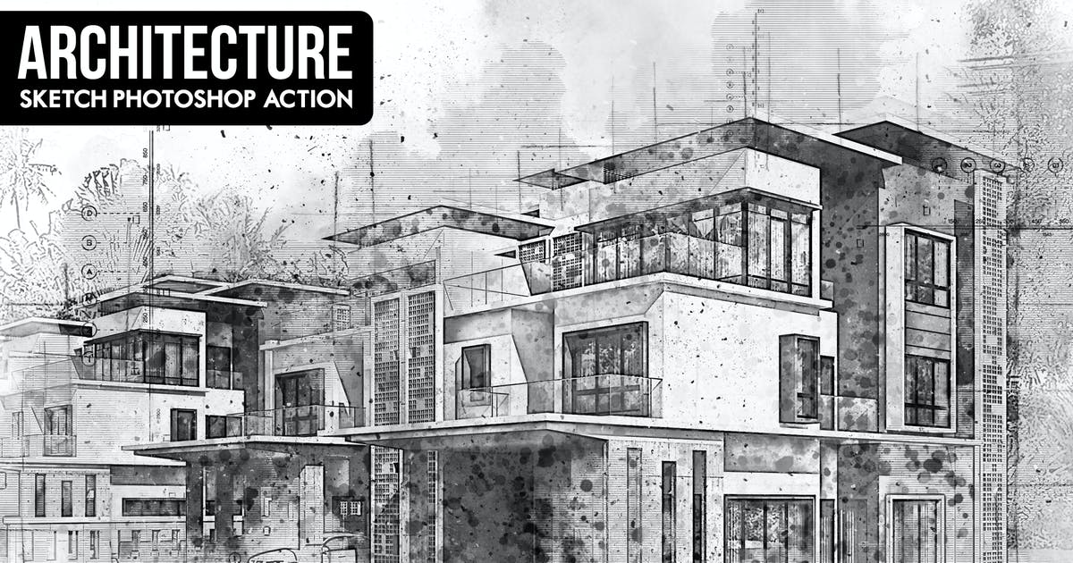 Download Architecture Sketch Photoshop Action by Hemalaya1