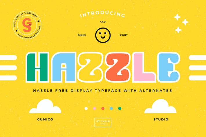 Thumbnail for Hazzle Typeface