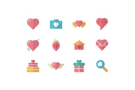 Liebe und Romantik Icons