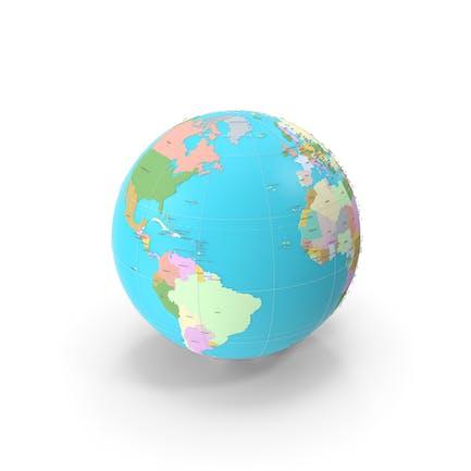 Geopolitischer 3D-Globus