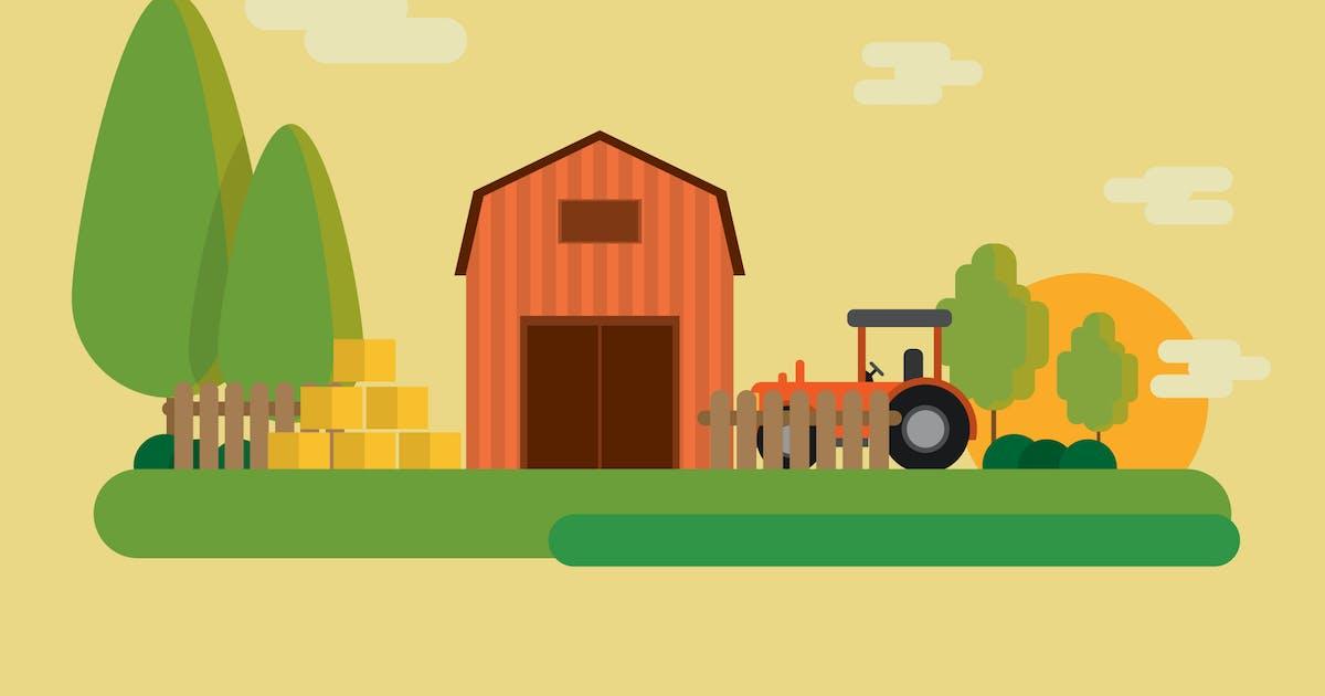 Download Farm - Illustration Background by Graphiqa