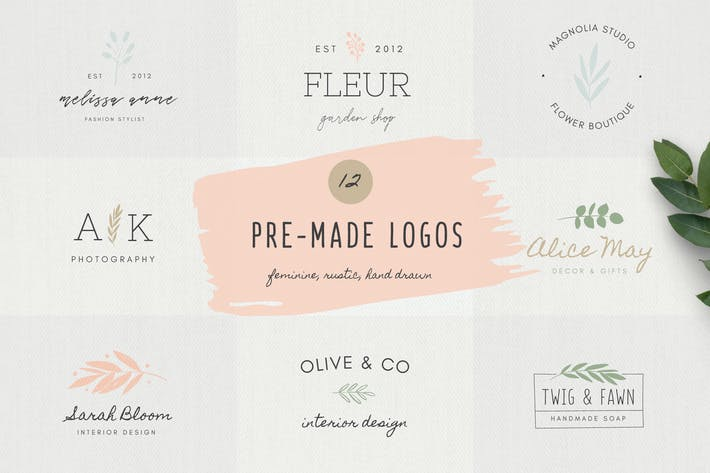 Thumbnail for Feminine Logo Templates