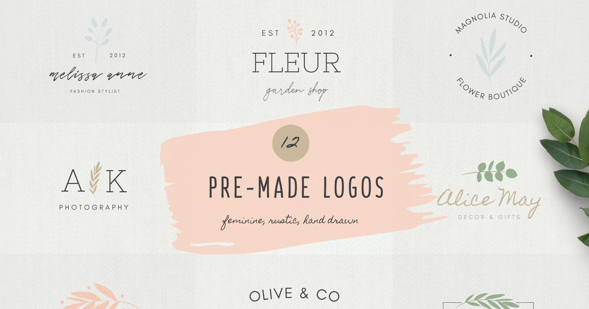 Download Feminine Logo Templates by ClementineCreative