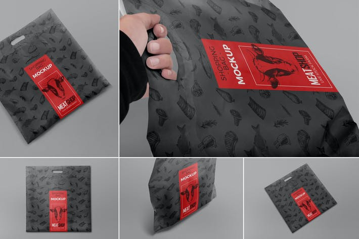 Thumbnail for Plastic Shopping Bag Mockups