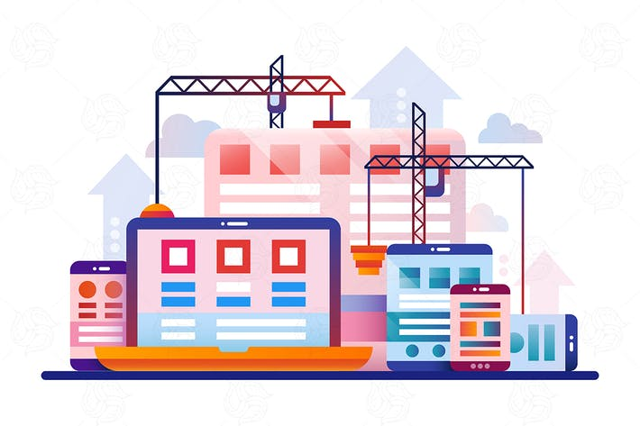 Programming Tools - flat design illustration