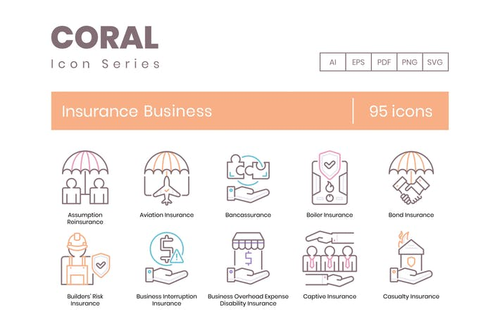 Thumbnail for 95 Insurance Business Line Icons