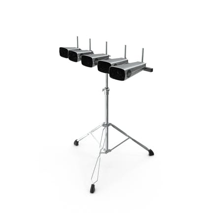 Percussion Five Cowbell Set with Stand