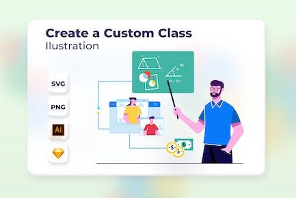 Create a Custom Class - Onboarding Illustration