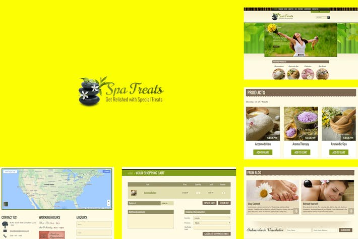 Thumbnail for Spa Treats  - Yoga and salon Shopify Theme