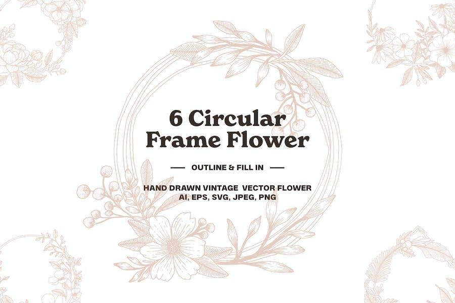 6 Circular Frame Flower