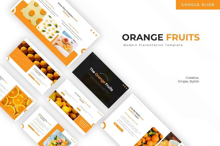 Thumbnail for Orange Fruits - Google Slide Template
