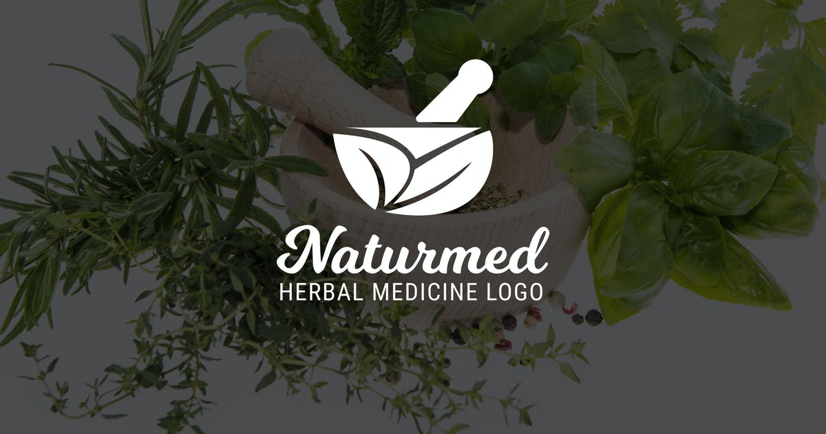 Download Naturmed : Herbal Medicine or Pharmacy Logo by punkl