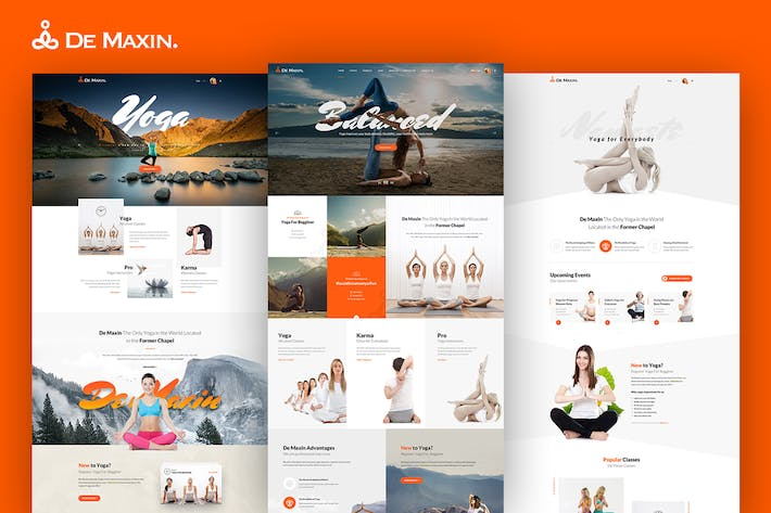 Cover Image For De Maxin - Yoga PSD Template