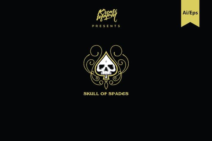 Thumbnail for Skull Of Spades Logo Template