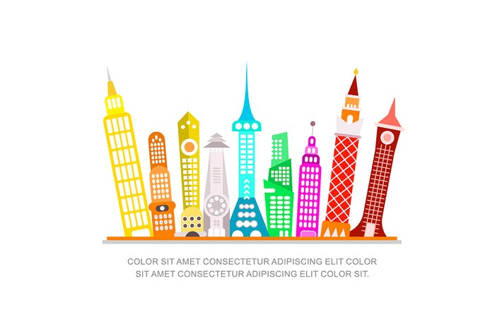 Thumbnail for Modern City Vector Illustration