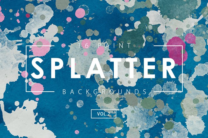 Thumbnail for 16 Paint Splatter Backgrounds Vol. 2