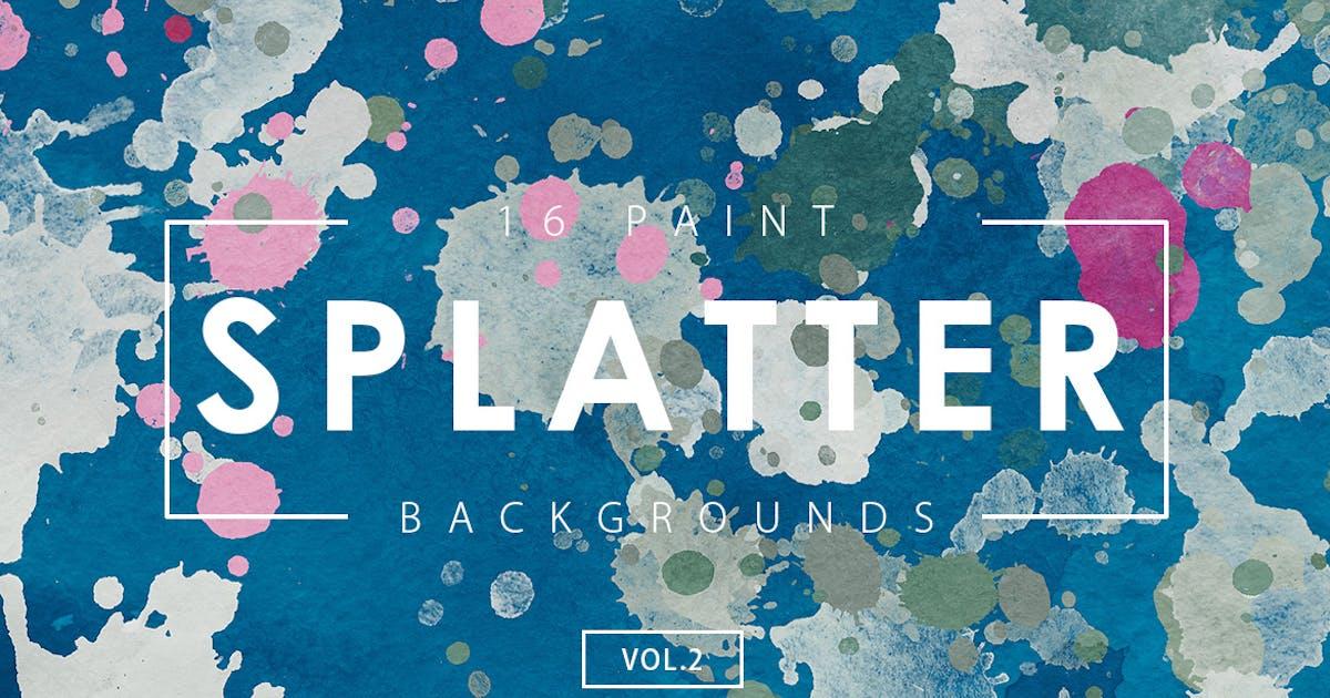 Download 16 Paint Splatter Backgrounds Vol. 2 by M-e-f