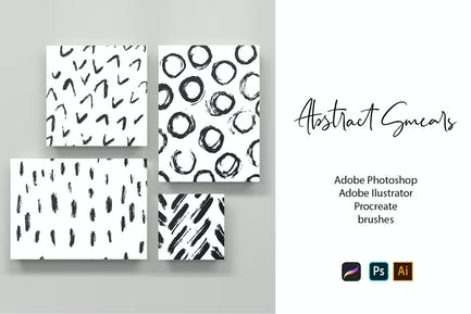 Abstract Smears Brushes
