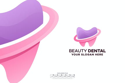 Dental Gradient Logo Template